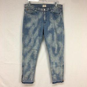 Hudson Cropped Midrise Nico Light Wash Jeans